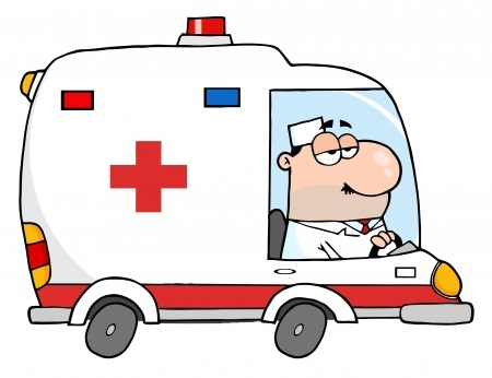 Image credit: <a href='http://www.123rf.com/photo_16446237_doctor-driving-ambulance.html'>chudtsankov / 123RF Stock Photo</a>